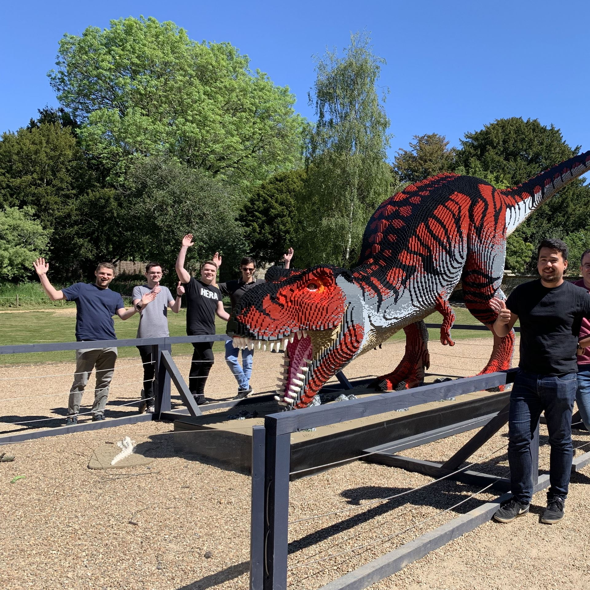 Team With Dinosaur At Marwell