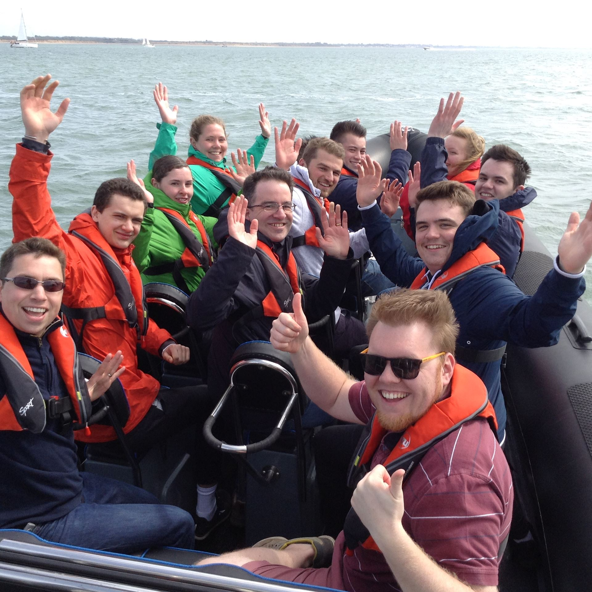 Team Day powerboating