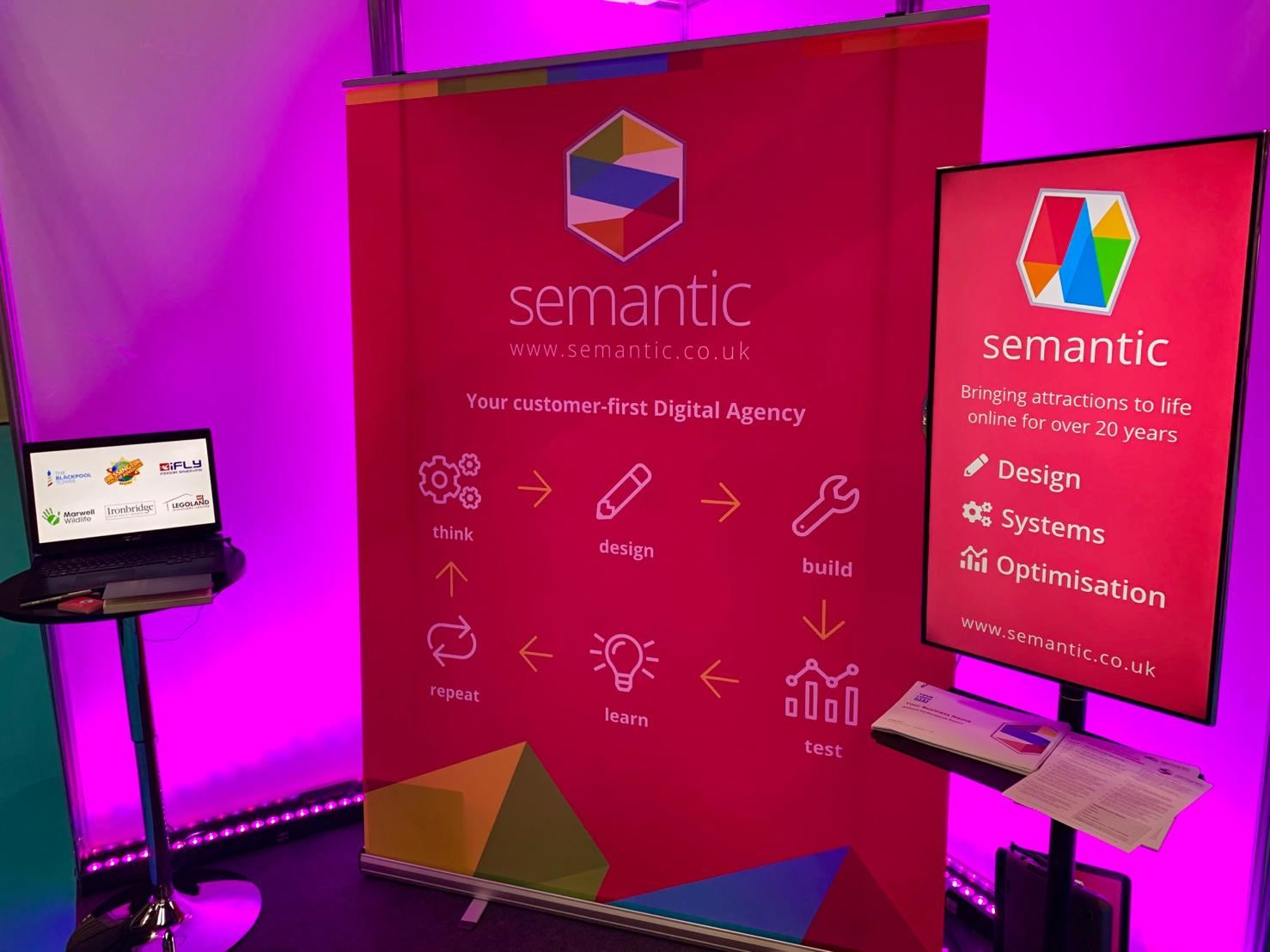 Semantic stand at an exhibition