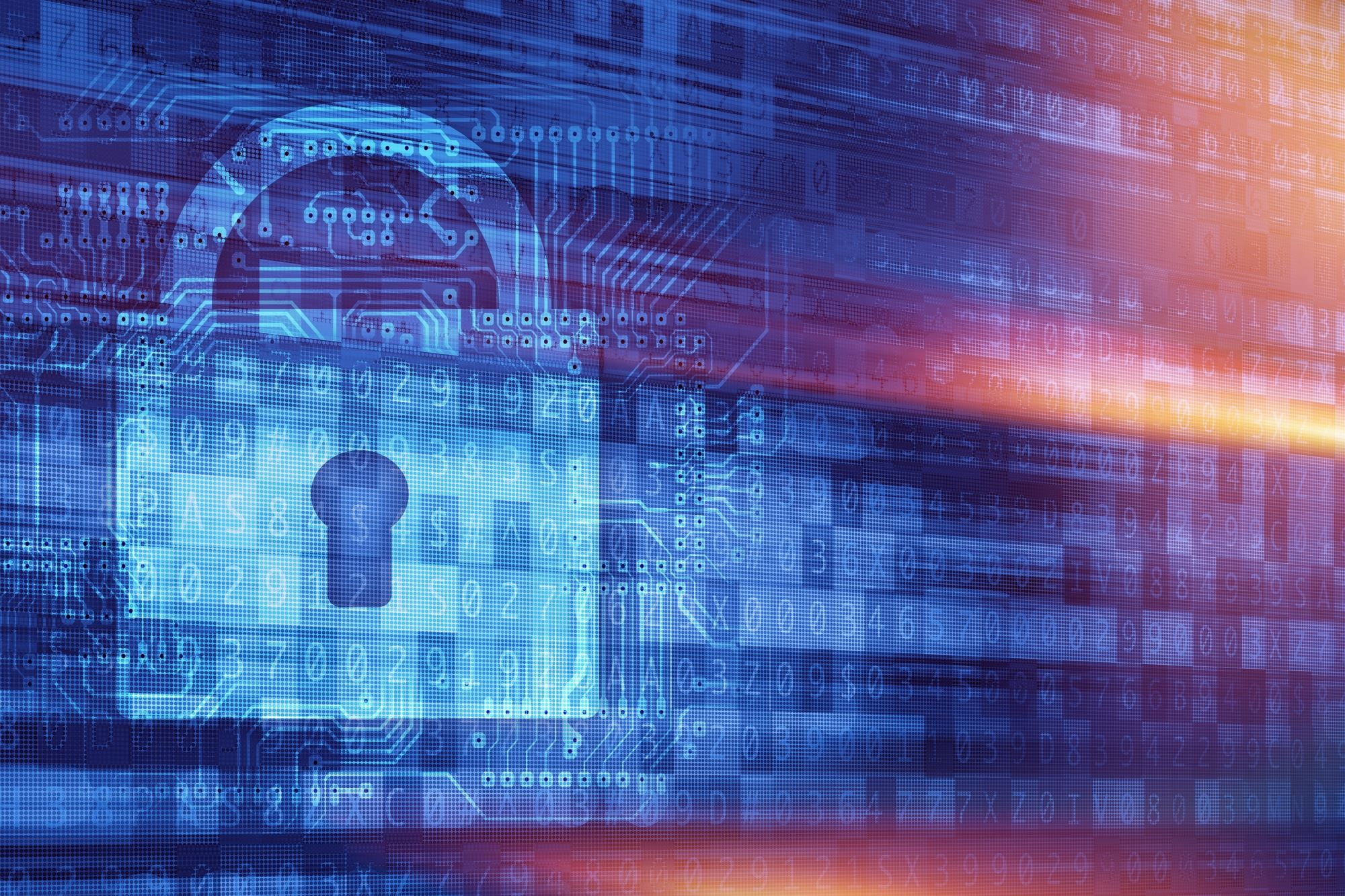 Padlock staying secure online